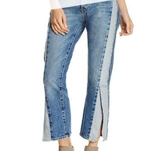 Current/Elliot straight mid rise jeans